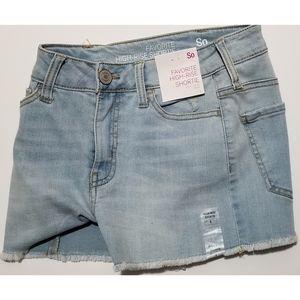 SO High-Rise Shorts Jeans,  Light Blue,  1 NWT